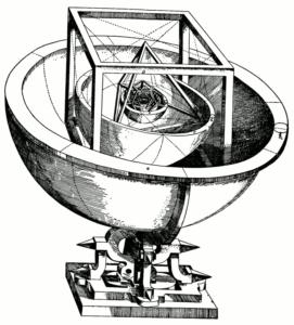Johannes Kepler erschuf mit dem Mysterium Cosmographicum ein Modell des Sonnensystems, das erstaunlich akkurat war.